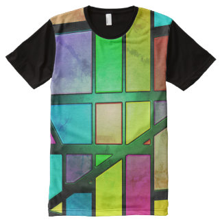 Colorful abstract Shiny Tiles All-Over-Print T-Shirt