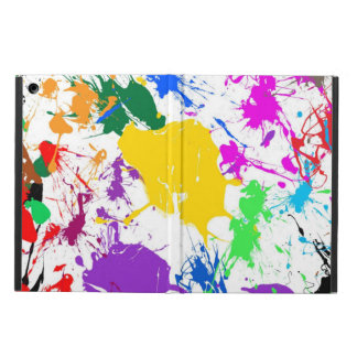 colorful abstract splash art case for iPad air