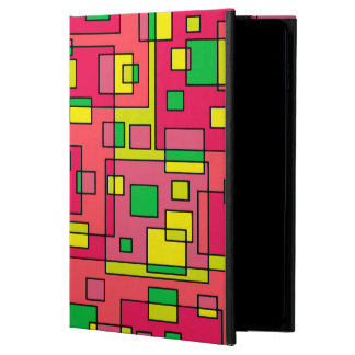 Colorful Abstract Square-Red Yello Green