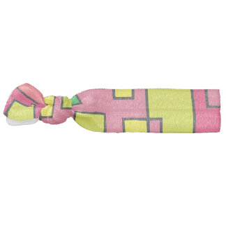 Colorful Abstract Square Red Yello Green Backgroun Hair Tie