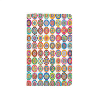 Colorful Abstract Square-Red Yello Green Backgroun Journals