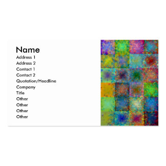 Colorful abstract squares business card