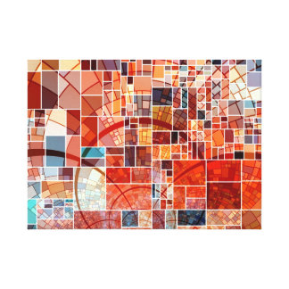 Colorful Abstract Stained Glass Art Nouveau Canvas Print