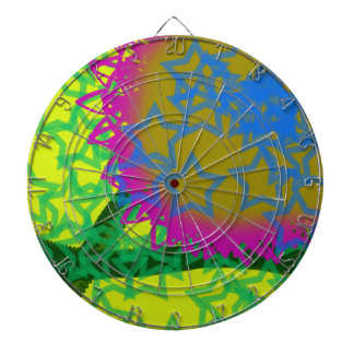 Colorful Abstract Stars Dartboard