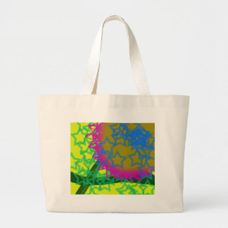 Colorful Abstract Stars Large Tote Bag