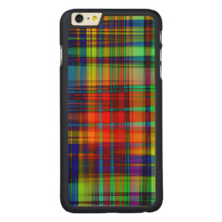 Colorful Abstract Stripes Art Carved Maple iPhone 6 Plus Case