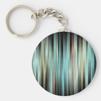 Colorful Abstract Stripes Basic Round Button Keychain