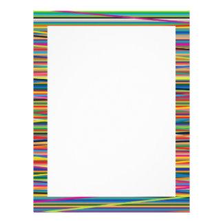 Colorful abstract stripes design custom letterhead