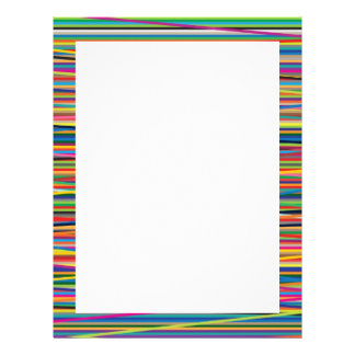 Colorful abstract stripes design letterhead