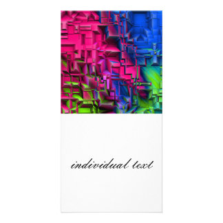 colorful abstract structured (I) Photo Card