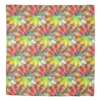 Colorful Abstract Sun Rays Duvet Cover