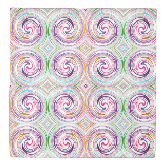 Colorful Abstract Swirl Pattern #11 Duvet Cover