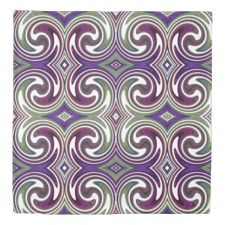 Colorful Abstract Swirl Pattern #12 Duvet Cover