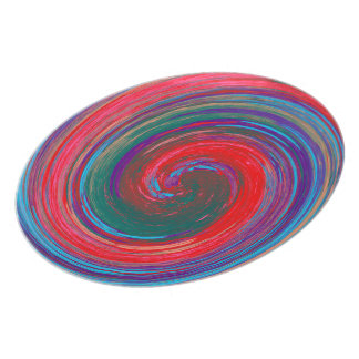 Colorful Abstract Swirl Pattern #12 Plate