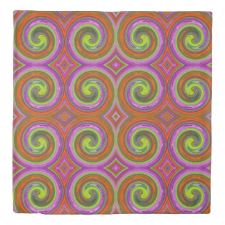 Colorful Abstract Swirl Pattern #16 Duvet Cover