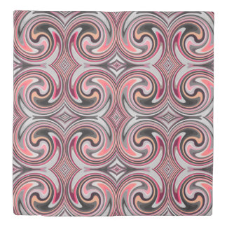 Colorful Abstract Swirl Pattern #19 Duvet Cover