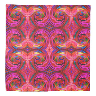 Colorful Abstract Swirl Pattern #20 Duvet Cover