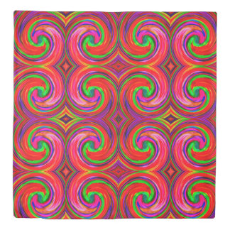 Colorful Abstract Swirl Pattern #23 Duvet Cover