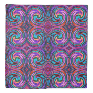 Colorful Abstract Swirl Pattern #24 Duvet Cover
