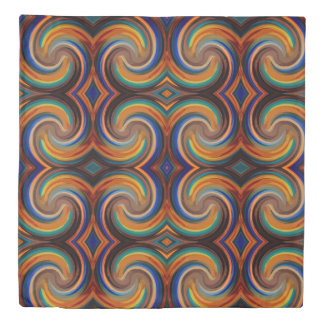 Colorful Abstract Swirl Pattern #2 Duvet Cover