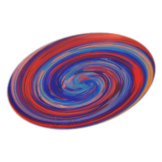 Colorful Abstract Swirl Pattern #7 Plate