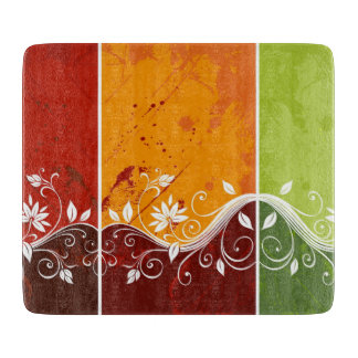 colorful abstract swirl vector flowers boards