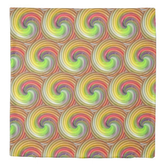Colorful Abstract Swirls Duvet Cover