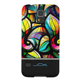 Colorful Abstract Swirls Stained Glass Look Case For Galaxy S5