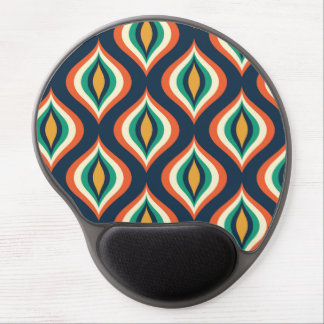 Colorful Abstract Teardrops Modern Geometric Patte Gel Mouse Pad