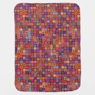 Colorful abstract tile pattern design baby blanket