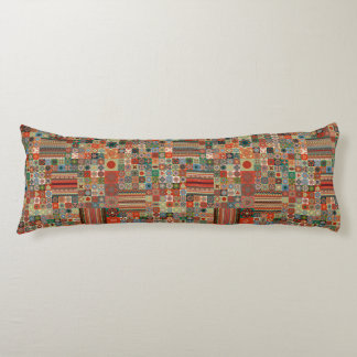 Colorful abstract tile pattern design body pillow