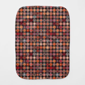Colorful abstract tile pattern design burp cloth