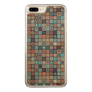Colorful abstract tile pattern design carved iPhone 7 plus case
