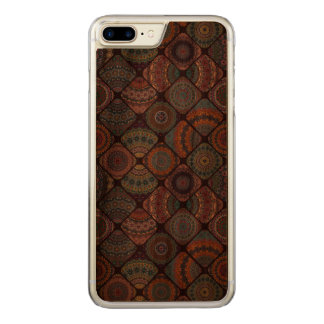 Colorful abstract tile pattern design carved iPhone 8 plus/7 plus case