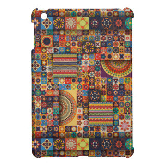 Colorful abstract tile pattern design case for the iPad mini