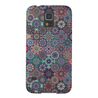 Colorful abstract tile pattern design cases for galaxy s5