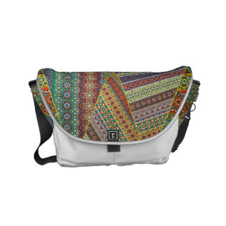 Colorful abstract tile pattern design commuter bag