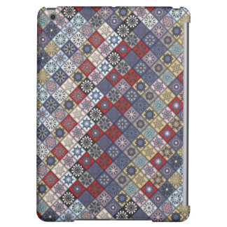 Colorful abstract tile pattern design cover for iPad air