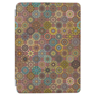 Colorful abstract tile pattern design iPad air cover