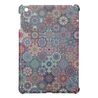 Colorful abstract tile pattern design iPad mini case