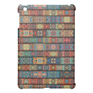 Colorful abstract tile pattern design iPad mini cases