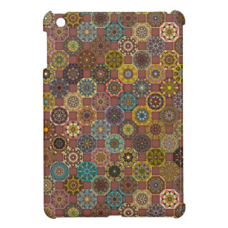 Colorful abstract tile pattern design iPad mini covers