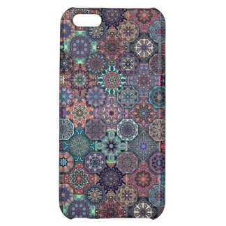 Colorful abstract tile pattern design iPhone 5C cases
