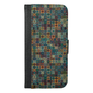 Colorful abstract tile pattern design iPhone 6/6s plus wallet case