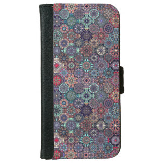 Colorful abstract tile pattern design iPhone 6 wallet case