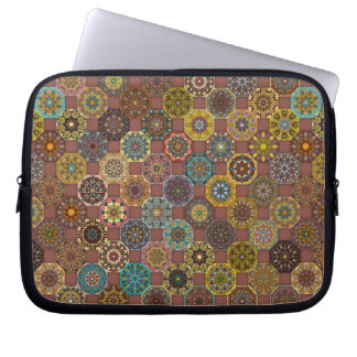 Colorful abstract tile pattern design laptop sleeve