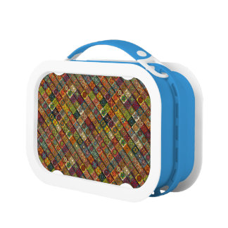 Colorful abstract tile pattern design lunch boxes