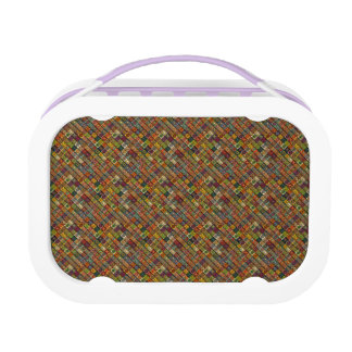 Colorful abstract tile pattern design lunchbox