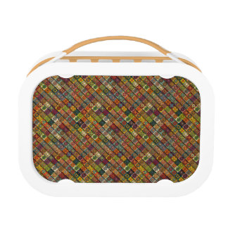 Colorful abstract tile pattern design lunchboxes
