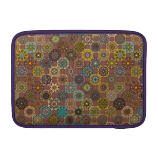 Colorful abstract tile pattern design MacBook sleeve